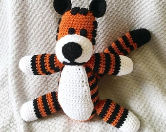 Crochet Amigurumi Hobbes-Inspired Tiger - Extra Large Stuffed Plush Toy