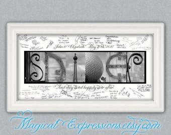 Customized Last Name Walt Disney World Photography Wedding Guest Book Print