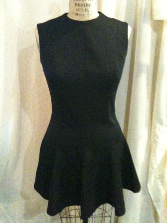Vintage Kay Windsor Black Dress d26