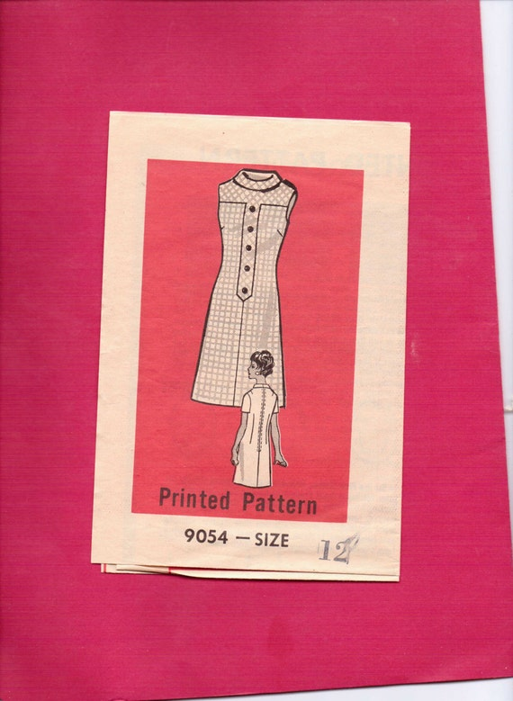 Marian Martin Mail Order Sewing Pattern 9054 Vintage 60s Misses Sheath Dress Size 12