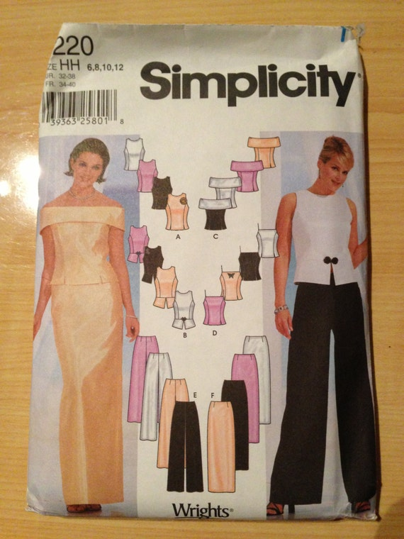 Simplicity Sewing Pattern 7220 Misses and Misses Petite Tops, Pants and Skirt Size 6-12 Uncut