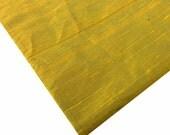 Indian Silk Fabric - Pure Silk Dupioni - Raw Mulberry Silk - Mustard - Teal -Two Tone - Indian Dupioni Silk -Dupioni Silk