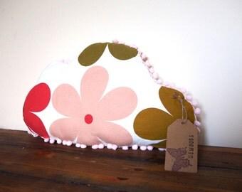 Floral White Cloud Cushion, Nursery Pillow, Kawaii Plush Pillow, Soft Plush Room Accessory, Home Decor