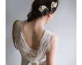 Bridal Headpiece - Silver and Pearls - Delphine
