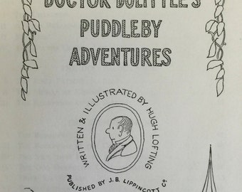 Doctor Dolittle's Puddleby Adventures Weekly Reader Childrens Book Club edition written & illu. by Hugh Lofting, J.B. Lippincott Co., 1952