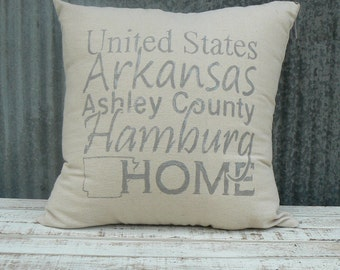 Drop Cloth HOME Pillow
