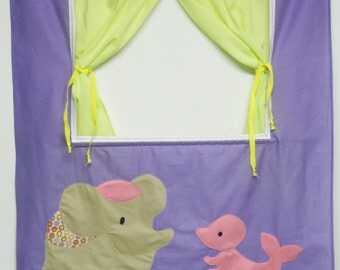 Doorway puppet theater - lila