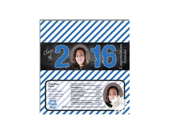 2016 Graduation Photo Candy Bar Wrappers, Printable Candy Wrapper, Graduation Chocolate Bar Wrappers-DIGITAL DOWNLOAD