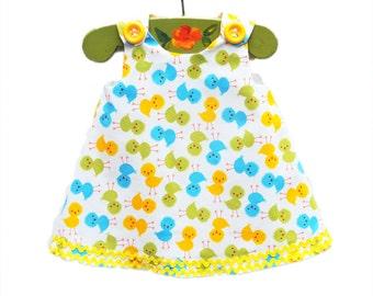 Easter Aline - Chicks - Dress - Baby Chicks Dress - Infant Dress - Toddler Girl - Girls Dress - Aline Dress - Handmade - Tunic
