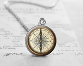 Nautical Compass Necklace, Best Friend Necklace, Nautical Jewelry, Compass Pendant, Deployment Gift, Friendship Gift, N524