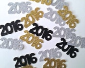 2016 Glitter Confetti -- New Years Eve Party / Graduation Party /  Class of 2016 Party Decorations