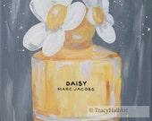 "Daisy Marc Jacobs Perfume Art Painting Fashion Art Original Canvas 11"" x 14"""