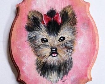 Yorkshire Terrier Acrylic Painting