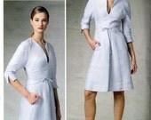 "Ralph Rucci Quilted Dress Pattern- Size 12, 14, 16, 18, 20; Bust 34"", 36"", 38"", 40"", 42"" - Vogue American Designer V1381 uncut"