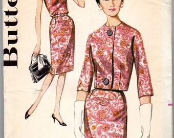 """1960s Women's Jacket & Wiggle Dress Pattern - Size 40, Bust 42"""" - Butterick 2571"""