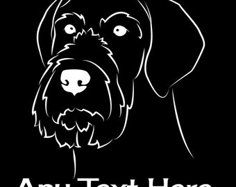 German Wirehaired Pointer Vinyl Car Decal