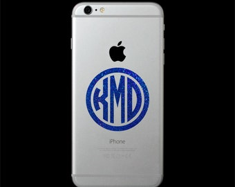 Shimmery Phone Decal, Glittery Phone Decal, Phone Decal, Cell Phone Decal, Phone Sticker, Phone Monogram, Phone Monogram Decal for Phone