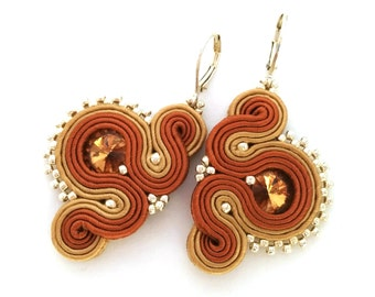 Soutache earrings - colorful earrings - gift for girlfriend - christmas gift for wife - wholesale jewelry - wholesale earrings gift daughter