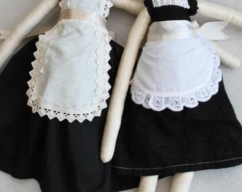 Maid Ragdolls:Vintage,Recycled Materials,Cloth Doll,Ragdolls,Cloth Handmade Dolls,Maid,1940s,ragdoll,Cloth Dolls,Twiice Loved