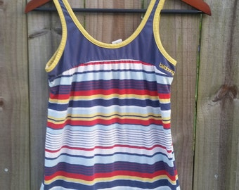 XS S Extra Small Vintage 80s Billabong Surfer Beach Summer Raver Grunge Indie Hipster Tank Top Shirt