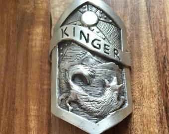 Custom Bike Badge - Cast in Bronze or Silver