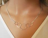 Eternal sunshine necklace, Karma Necklace, 5 sisters necklace, sterling silver, Mom, grandmom, sister, girlfriend, friendship gift