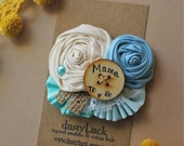 Mama to Be Baby Shower Pin //  Shades of Blue Boy Baby Shower Pin  //  Ready to Ship Mommy Pin