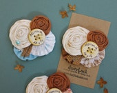 Custom Rustic Pin // Flower Burlap & Button Brooch // Mommy to be, Bride to be, Grandma to be Custom Made