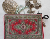 Red Coin Purse, Keychain, Womens Wallet, Jewelry Purse Wallet, Makeup Bag, Ethnic Coin Purse, Turkish Pouch, Mother's Day