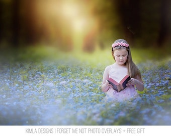 Forget me not Photo Overlays + Free Gift