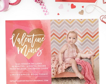 Valentine's Day Mini Session Template, Valentine's Mini Session Marketing Board, Photography Marketing Templates AD209