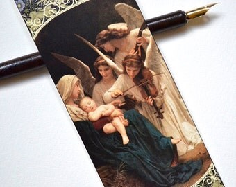 Bookmark - Song of Angels - Painting - Handmade