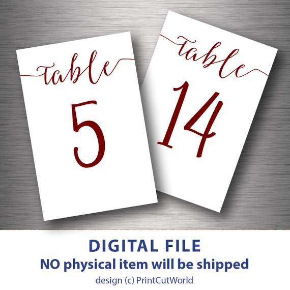 Adaptable image within free printable table numbers 1 30