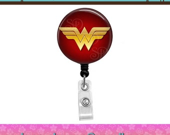 Wonder Woman (01) Superhero Comics Super Hero Button Retractable ID Badge Reel. Custom Requests Welcome. See Announcements Discount Coupon.