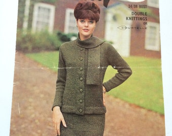 Wendy knitting pattern no.430 vintage ladies suit 1960s