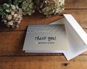 Wedding Thank You Card, Folded Thank You Card,  String Lights Thank You Card, Market Lights Thank You