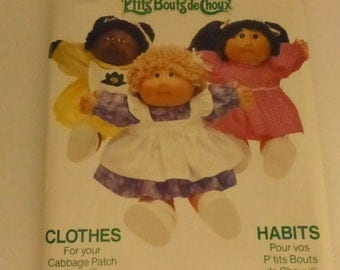 Vintage Butterick Pattern 6509 Cabbage Patch Kids Dress and Pinafore  Factory Fold Uncut