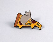 Pizza Cat enamel lapel pin  Cat pin  Enamel pin  Enamel cat pin  I like cats  Cat lapel pin  Cat jewellery  Cat gifts  Cats  Cat