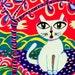 Fantasy Cat Print, Cat Art, Cat Print, Whimsical Cat Print, White Cat, Children's Wall Art, Animal Wall Art, Cat's Dream by Paula DiLeo_716