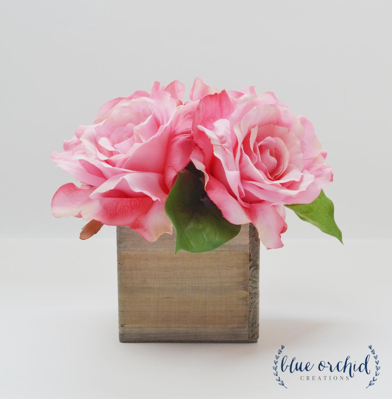 Rose centerpiece rustic wedding