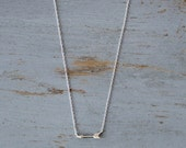 Silver Arrow Necklace - Delicate and Pretty Sterling Silver Arrow on Adjustable Silver Chain
