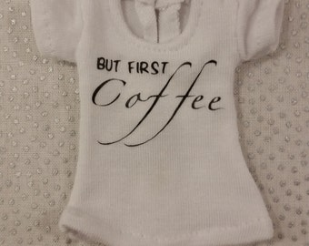 Blythe But First Coffee T-shirt
