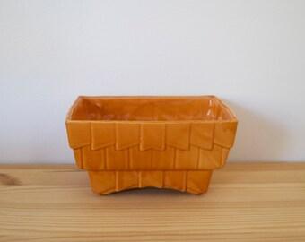 Orange planter - Midcentury planter