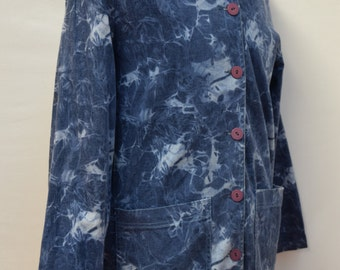 Aqua Patterned Vintage Shirt (DOWN FROM 19.99)