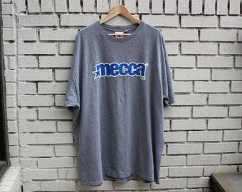 Vintage MECCA USA Shirt Since Day One Brand Hip Hop Clothing Rap Urban Street Wear 1990's