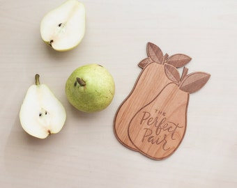 Perfect Pair Wedding Wood Card
