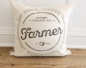Custom Family Name Coffee Pillow Cover