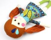 handmade rag doll | camille cloth doll | first doll | keepsake rag doll | girl doll