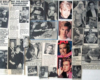 MARK-Paul GOSSELARR ~ Saved By The Bell, NYPD Blue, Franklin and Bash, Zack Morris ~ Color and B&W Clippings from 1989-1995