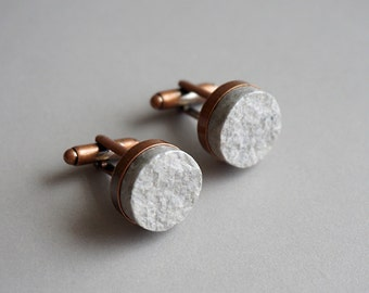 Recycled Paper Cufflinks - First Anniversary Gift for Husband